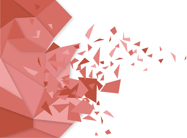 broken polygon abstract red vector background design free vector in