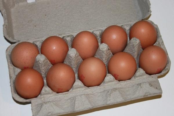 brown cartons eggs