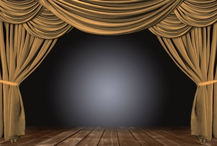 brown curtain picture