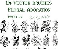 brushes Floral Adoration