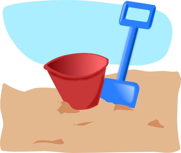 Bucket And Spade clip art Free vector in Open office drawing svg ...