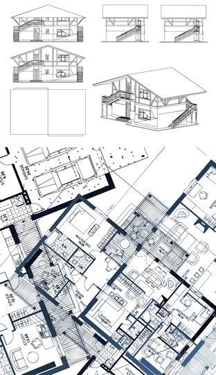 architecture drawing flat 3d sketch
