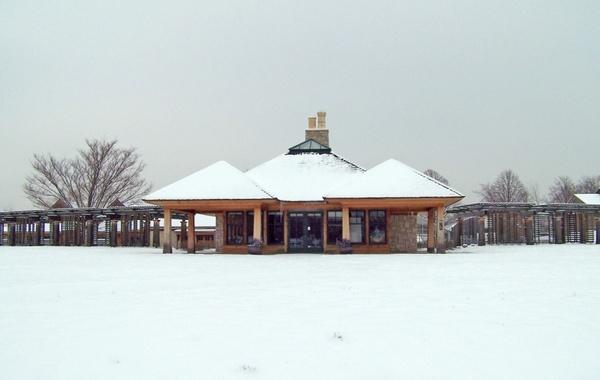 buildings in snow