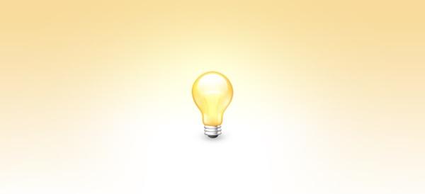 Bulb Icon PSD