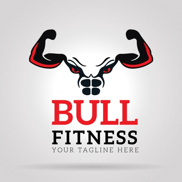 Bull Fitness Gym Logo Free Vector In Adobe Illustrator Ai Ai Format Encapsulated Postscript Eps Eps Format Format For Free Download 2 63mb