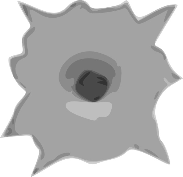 Bullet Hole clip art Free vector in Open office drawing svg (  svg