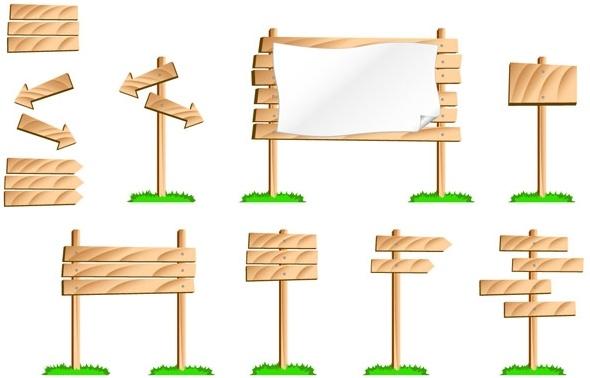 bulletin board signs vector