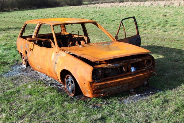 burned accident auto