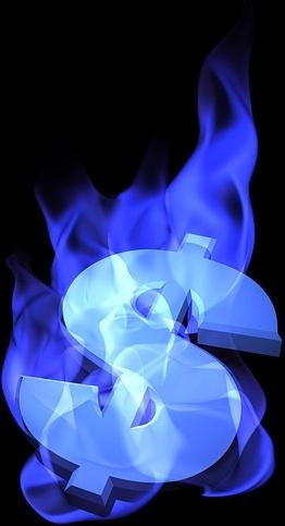 burning money symbol picture