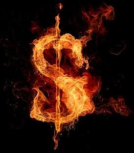 burning money symbol picture 2