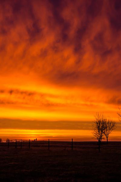 burning morning sky