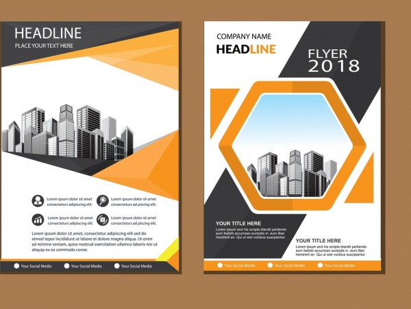 business abstract vector template brochure design cover modern