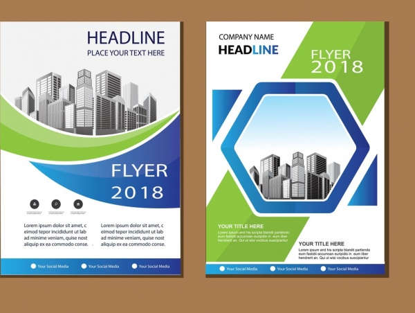 business abstract vector template brochure design cover