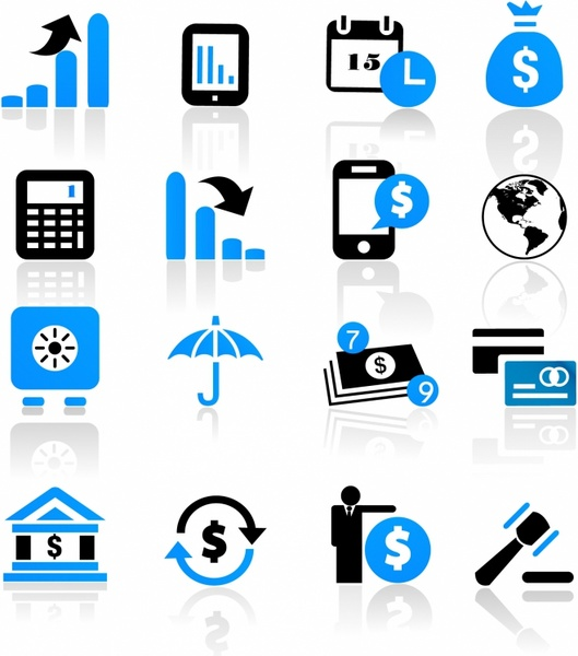 business and finance icons free vector in adobe illustrator ai ai