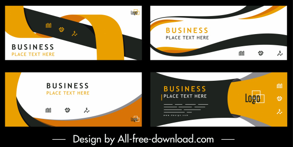 business banners templates colorful modern abstract dynamic horizontal