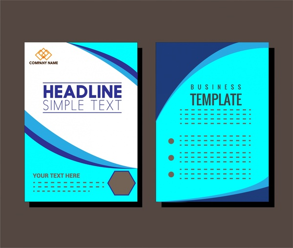 business brochure cover design in blue
