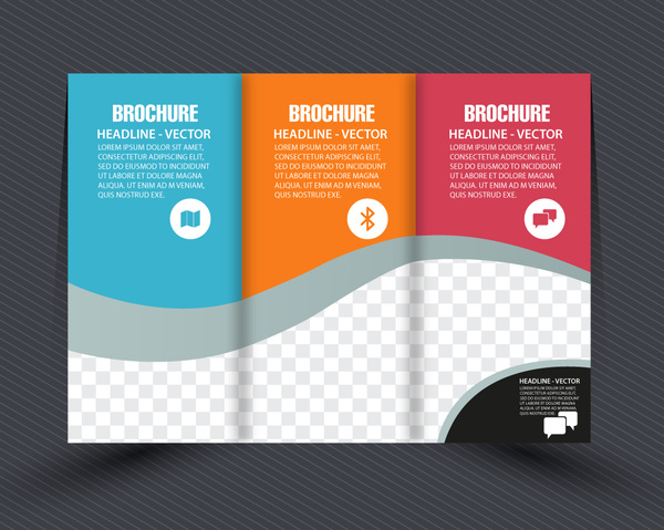 Business brochure design with checkered trifold style free vector in business brochure design with checkered trifold style accmission Choice Image