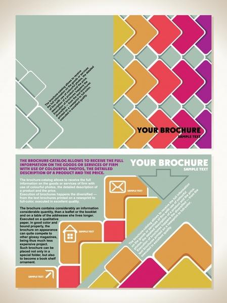 business brochure templates flat geometrical decor