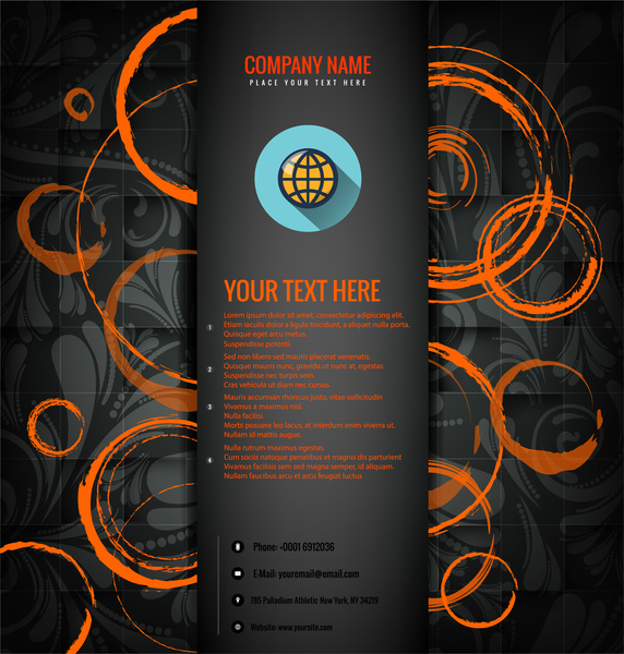 business brochure template vector illustration with art background