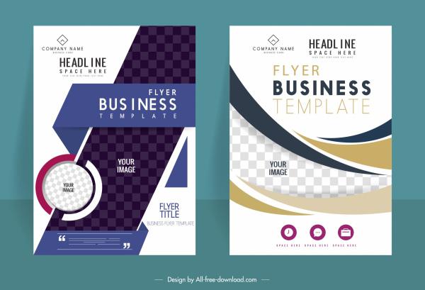 business brochure templates modern bright checkered decor
