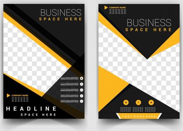 business brochure templates modern design checkered decoration
