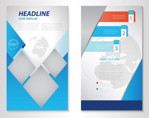 business brochure vector illustration with earth vignette