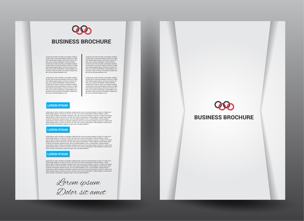 business brochure vector illustration with elegant style