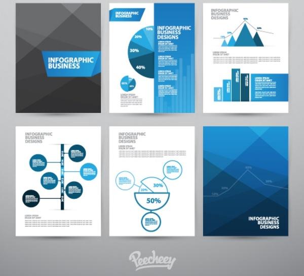 business brochures set free vector in adobe illustrator ai ai