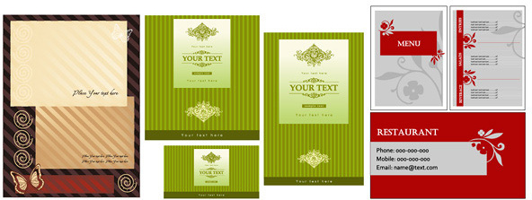 business card menu template