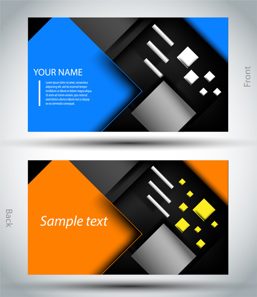 Business card template free vector in adobe illustrator ai business card template accmission Gallery