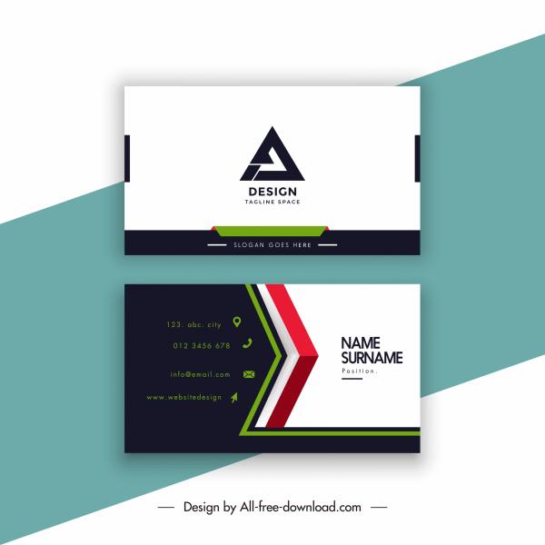 business card template elegant dark bright decor