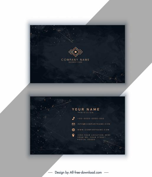 business card template elegant luxury dark sparkling decor