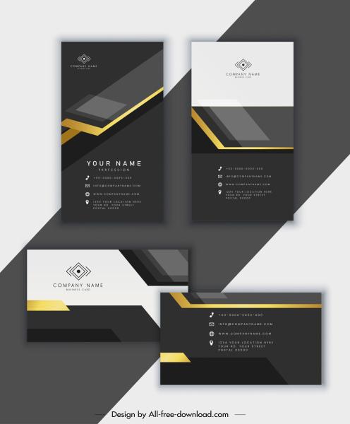 business card template elegant luxury modern black white