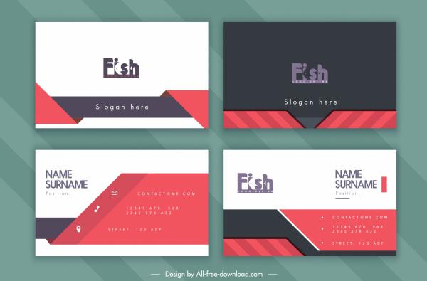 business card template fish text logotye decor