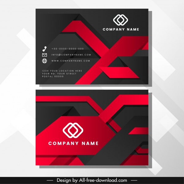 business card template luxury abstract modern technology decor