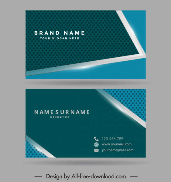 business card template modern technology design