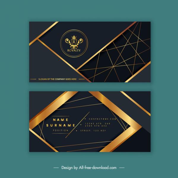 business card template royal theme luxury golden decor