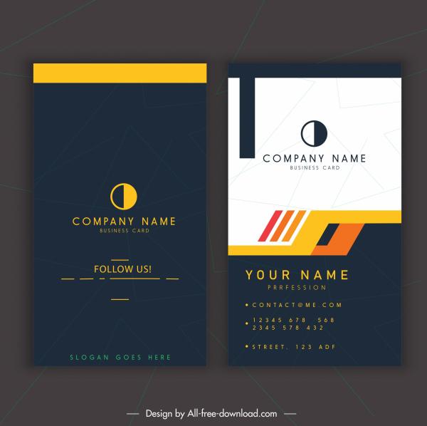 business card template simple dark bright modern decor