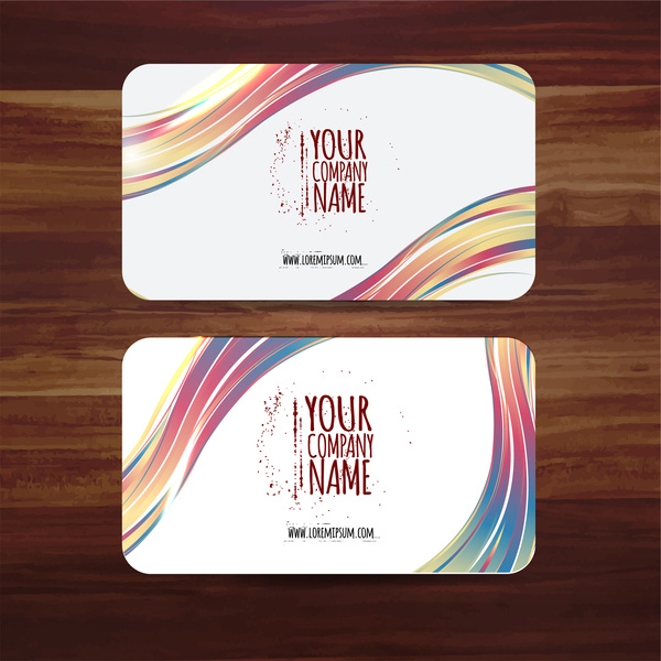 Business card template vector illustration with colorful curves free business card template vector illustration with colorful curves reheart Gallery