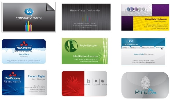 Business card templates free vector in adobe illustrator ai business card templates cheaphphosting Image collections