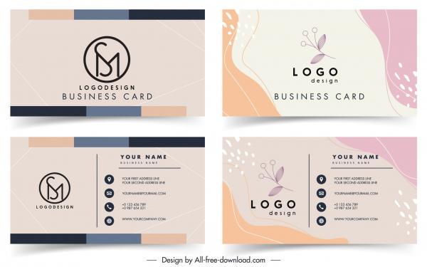 business card templates classical simple plant decor