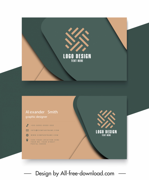 business card templates elegant 3d layers sketch