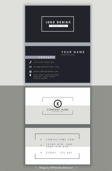 business card templates elegant black white modern decor