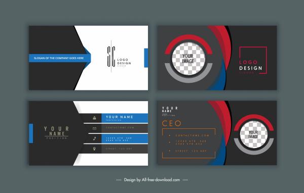 business card templates modern elegant dark design
