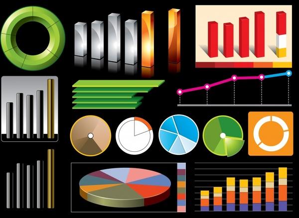 business chart design elements colorful modern design