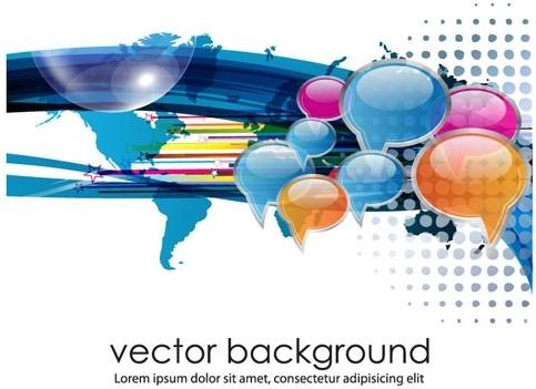 business concept dialog trend vector 1