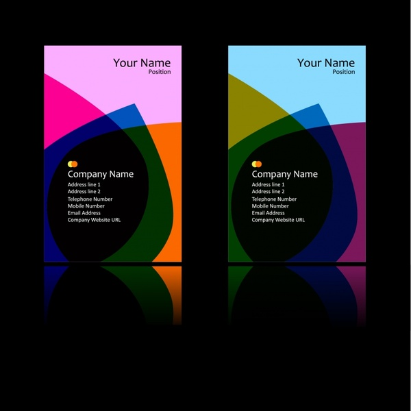 corporation brochure templates dark colorful abstract decor