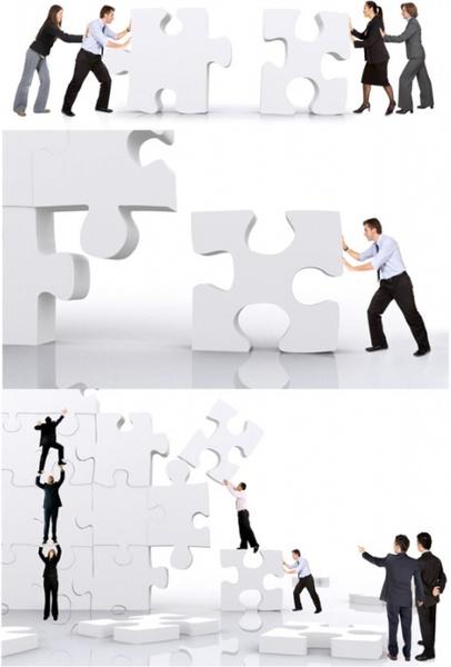 business figures puzzle definition picture