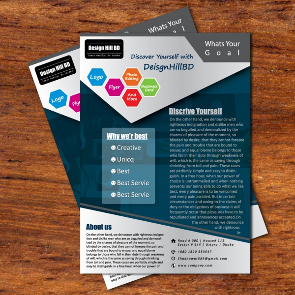 business flyer blueish black flyer design by designhillbdcom