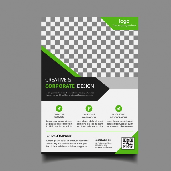 Business Flyer Template Free Vector In Encapsulated PostScript Eps